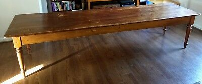 Antique Farmhouse Dining Table 10.5'