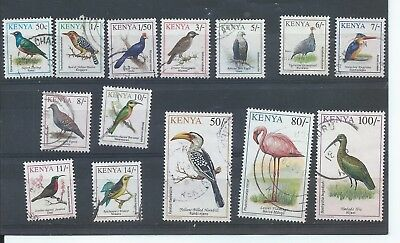 Kenya stamps. 1993 - 1996 Birds set used. CV £13.50 (D499)