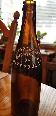 """Vintage INDEPENDENT BREWING CO. Beer Bottle Pittsburgh Pa. Excellent 9 1/2"""" tall"""