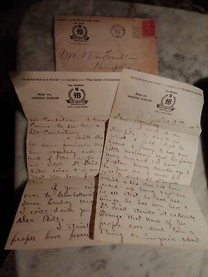 Letter Corespondence to Lawyer W.C.Franklin Attorney Pamplin City Va. Fr. Hotel
