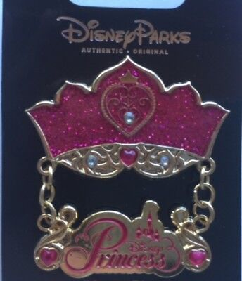 Disney Parks Princess Jeweled Crown With Dangle Pin