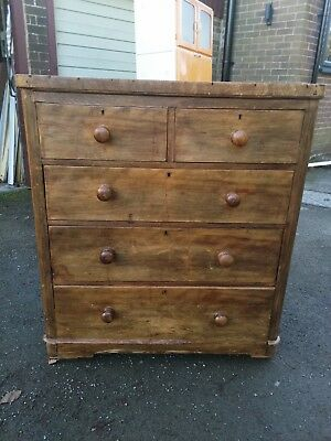 Large antique chest of drawers, Project