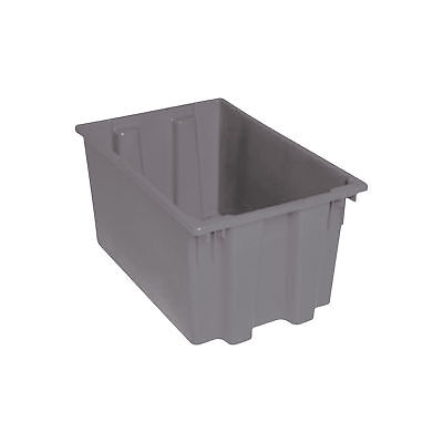 Quantum Stack and Nest Tote Bin-23 1/2in x 15 1/2in x 12in Size Gray #SNT 240 G