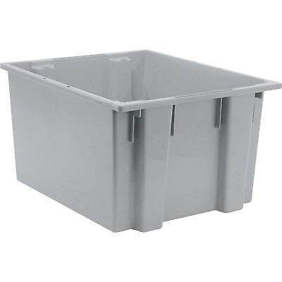 Quantum Stack and Nest Tote Bin-23 1/2in x 19 1/2in x 13in Size Gray #SNT 230 G