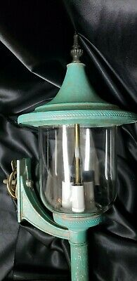 Antique Vintage Steampunk Arts & Crafts 3 Bulb  Candelabra Porch Light Sconce
