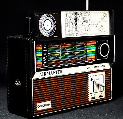 Vintage Goldfunk Airmaster Multi Band Radio Funky 70s Disco w Box & papers Rare