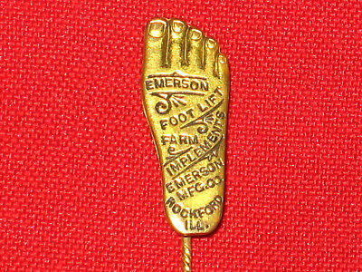 Vintage 1890'S Emerson Farm Implements Advertising Pin, Pinback Button, Badge