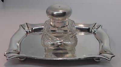 Silver Ink Well/Stand dates 1904 by William Hair Haseler