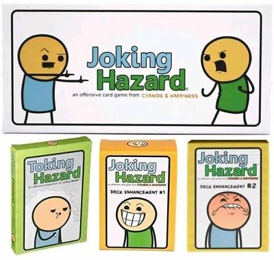 Joking Hazard Cards Board Game Boxed Family Party Travel Leisure Game UK Edition
