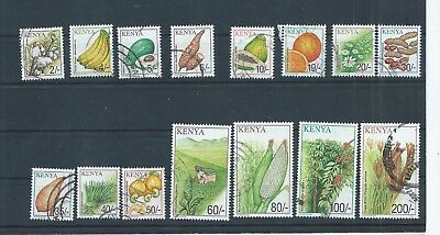 Kenya stamps. Most of the 2001 Crops series to 200s. (No,8c).  (D508)