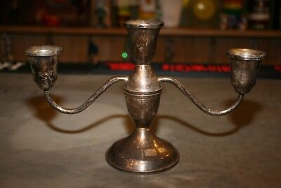 Antique Duchin Creations Sterling Silver Weighted Candleabra 3 Candle Holder