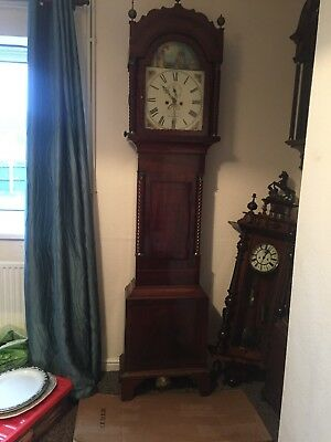 Mahogany Grandfather/long Case Clock By Lahrenger Of Pontypridd