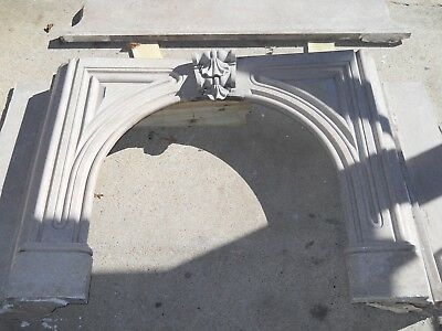 Very Nice Ornate Antique Marble  Victorian Fireplace Mantle Salvage