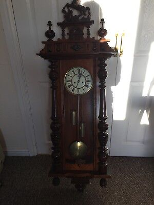 Antique Mahogany Pendulum  Wall Clock