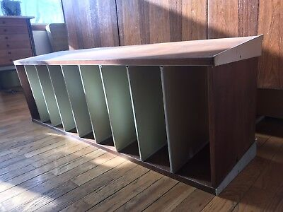 """Herman Miller CSS Shelf Divided Cabinet George Nelson 48"""" Walnut Wall Unit"""