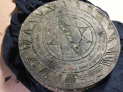 Antique Metal Sundial On A Base