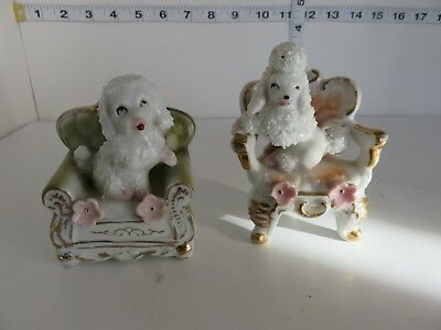 Vintage Japan  Spaghetti Poodles 1950's Sitting In Chairs Very Cool
