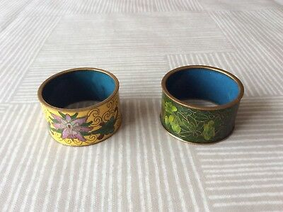 A  Pair Of Chinese Cloisonne Napkin Rings