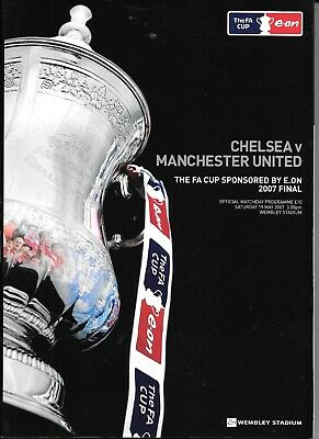3 FA Cup Final programmes 2000, 2002 and 2007 all Chelsea participation