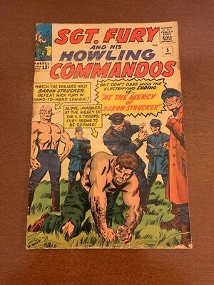 SGT. FURY AND HIS HOWLING COMMANDOS #5 (Jan 1963, Marvel)