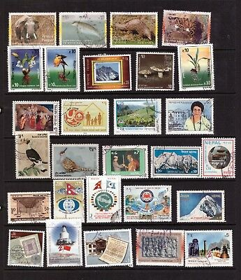 Nepal used stamps selection