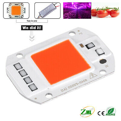 10W 20W 30W 50W LED Chip Integrated Smart IC Driver  Plant Grow 220V 1/4/10PCS