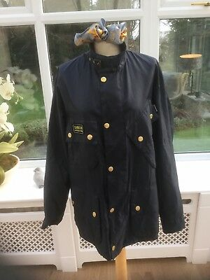 Mens Barbour International Jacket Coat Blue Size Large
