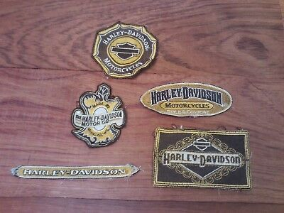 Lot Of 5 Harley Davidson Motorcycles Sew On Soft Patches