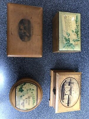 Antique Mauchline Ware Boxes.