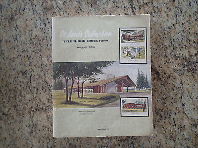 St. Louis Suburban Telephone Directory August 1962