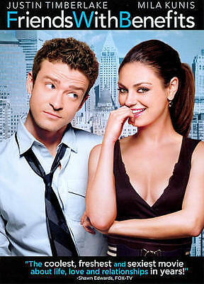 Friends with Benefits (DVD, 2011) J Timberlake, Mila Kunis,Woody Harrelson,more.