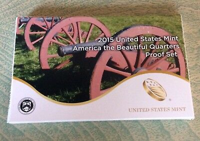 2015-S America the Beautiful Five Coin Clad Proof Set in US. Mint Box with COA