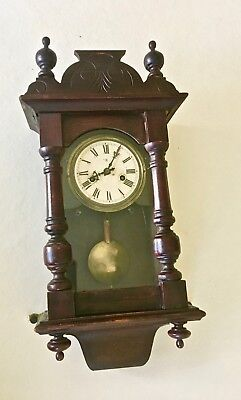 Antique German Wall Clock for Parts or Repair