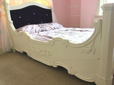 Unique Antique Bed Frame -French Louis XVI Small Double Girls Child