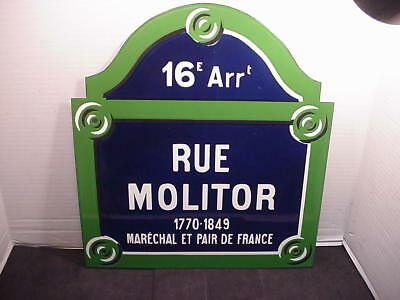 REAL PARIS STREET SIGN Old French Street Enameled Sign Rue Molitor