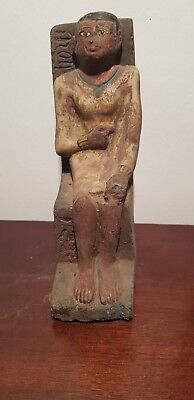 Rare Antique Ancient Egyptian Statue Architect Imhotep & king Djoser 2687-2668BC