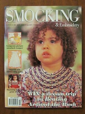 Australian Smocking & Embroidery - Issue #50 2000 Exc Christening Petticoats