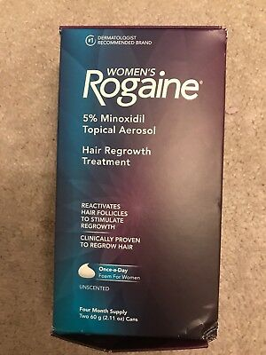 ROGAINE Women`s 5 % Minoxidil Hair Foam-4 month supply EXP 06/2019 later (qty=1)