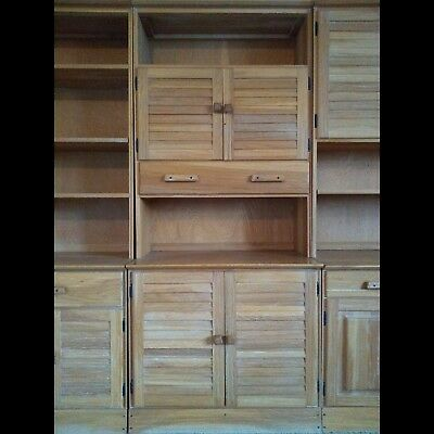 Ranch Oak A. Brandt Co. Tall Wall Cabinet Western Furniture 75 x 32.5 inches
