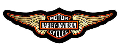 Harley Davidson Wing B&s 12.0 Inch Retro Jacket Vest Back Patch