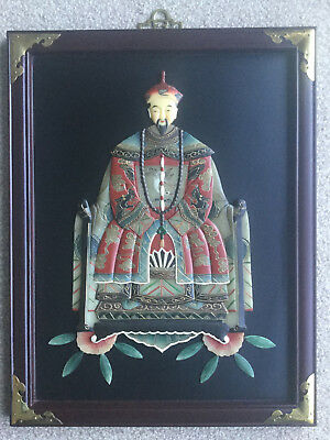 Outstanding Chinese Imperial Dynasty Ancestral Soapstone Portrait