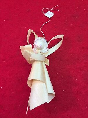 Vintage Shaved Wood Angel Christmas Tree Ornament Germany Old Beauty!