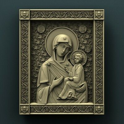 3d STL Model Relief for CNC Router Aspire _ (0522) Virgin Mary