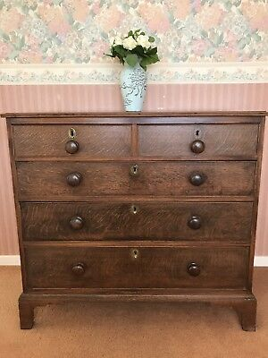 Mahogany chest of draws 2+3, antique, solid wood, deep draws