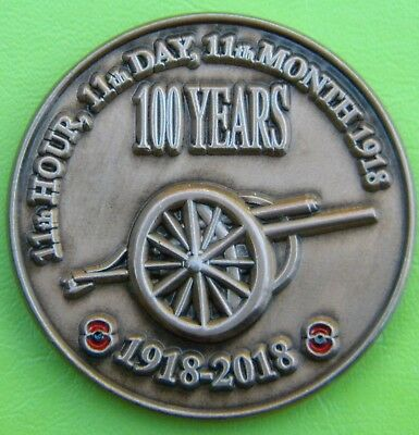 2018 - Armistice 100 Years - 11th Hour, 11th Day, 11th Month 1918-2018 Medal