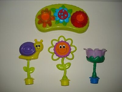 Evenflo Exersaucer Replacement Switch A Roo Tray Pod Toy - Snail, Flower