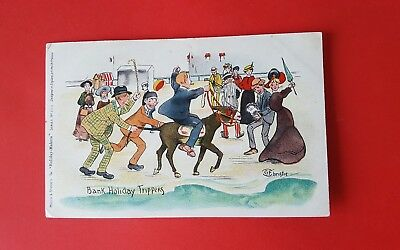 G F CHRISTIE - BANK HOLIDAY TRIPPERS Misch & Stock Holiday Makers Postcard 563G