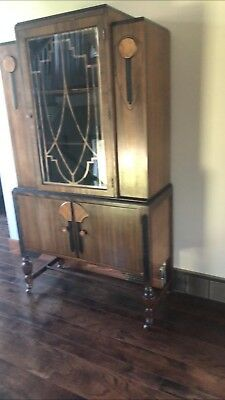 vintage hutch in excellent condition.  solid wood.