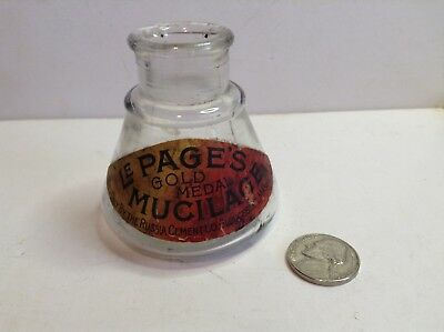 Le Page's Mucilage Bottle, With Double Label, Russia Cement, Gloucester, MA