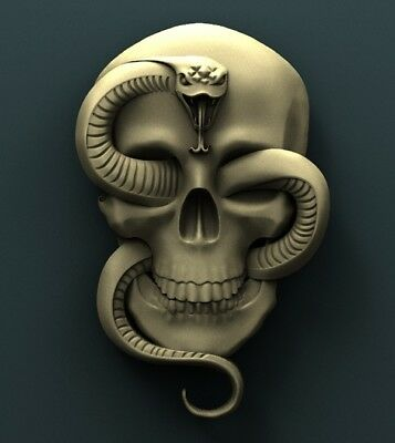 3d STL Model Relief for CNC Router Aspire _ (0540) Skull